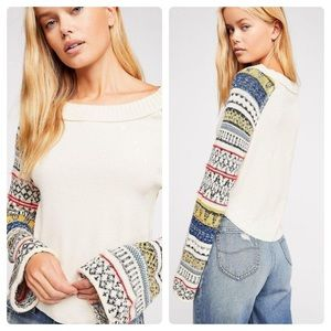 Free People Fairground Thermal Top XS